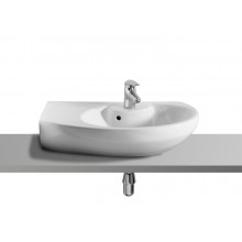 Подвесная раковина Dama Senso 68х42х19 см, compacto, левая, санфарфор, угловая