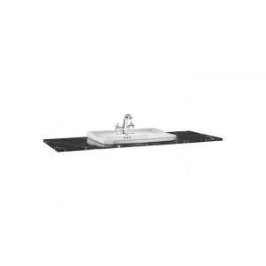 Столешница под раковину Carmen 130х49,5 см, black marquina, мраморная, с отв. под раковину