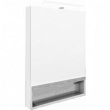 Зеркало Gap 60х85 см, шкаф, белый глянец, с подсветкой