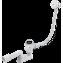 Слив-перелив для ванны 57 см, белый, заглушка 48 мм, полуавтомат, Alcaplast