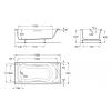 Гидромассажная ванна Becool 190х90 см, с гидромассажем,цифровая панель управления