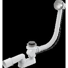 Слив-перелив для ванны 57 см, хром, полуавтомат, Alcaplast
