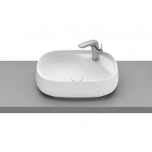 Накладная раковина Beyond 58,5х45,5х16 см, овальная, цвет матовый белый, fineceramic, с отв. под смеситель