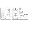 Система инсталляции для унитаза Active 54,7х15 см, без кнопки